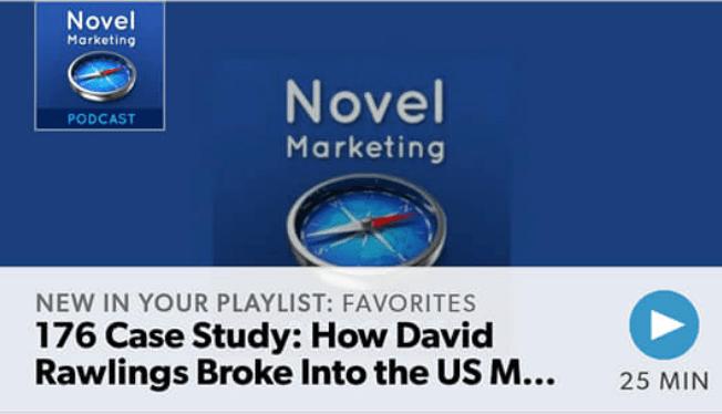 NovelMarketing podcast screenshot