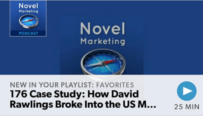 NovelMarketing podcast screenshot